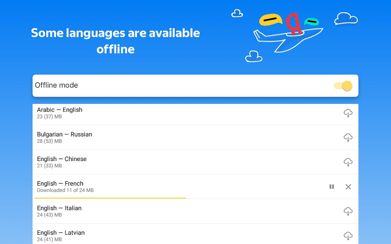 Yandex.Translate – offline translator & dictionary 19.1.1 Screen 10