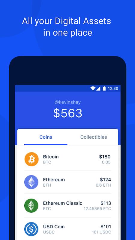Coinbase Wallet — Crypto Wallet & DApp Browser 17.1.216 Screen 2