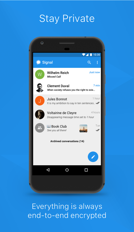 Signal Private Messenger 4.14.2 Screen 2