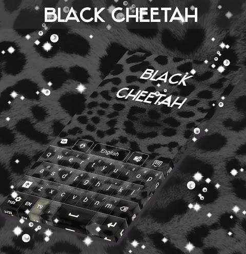 Android Black Cheetah. GO Keyboard Theme Screen 1