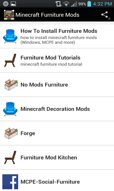 Android Furniture Mods For Minecraft Screen 1