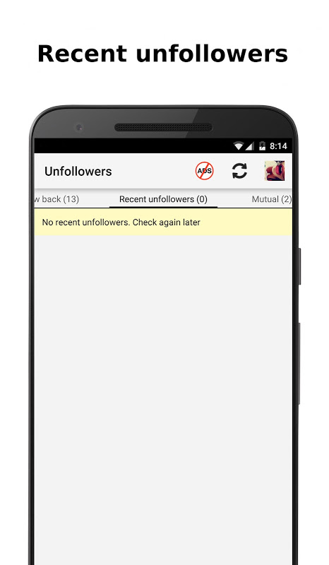 Unfollowers for Instagram 2.6.9 Screen 2