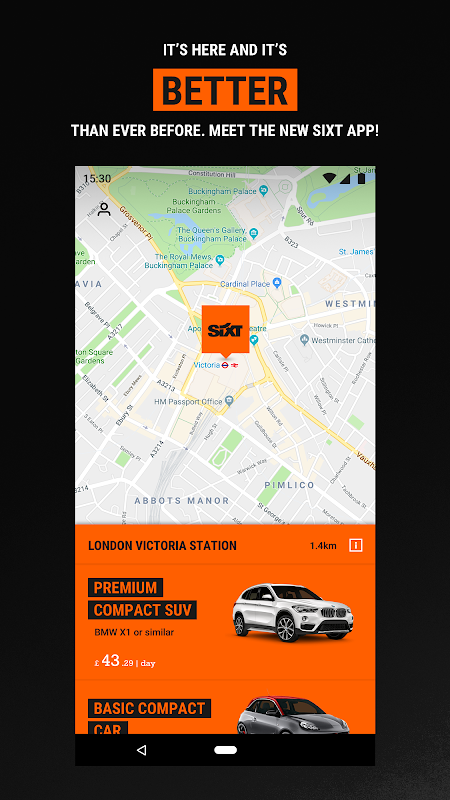 Android Sixt - Rent a Car Screen 1