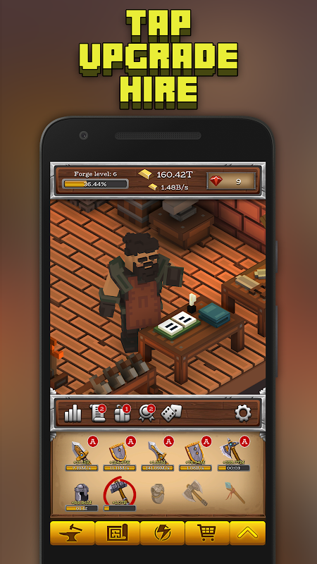 Android ForgeCraft - Idle Tycoon. Blacksmith Business Screen 2