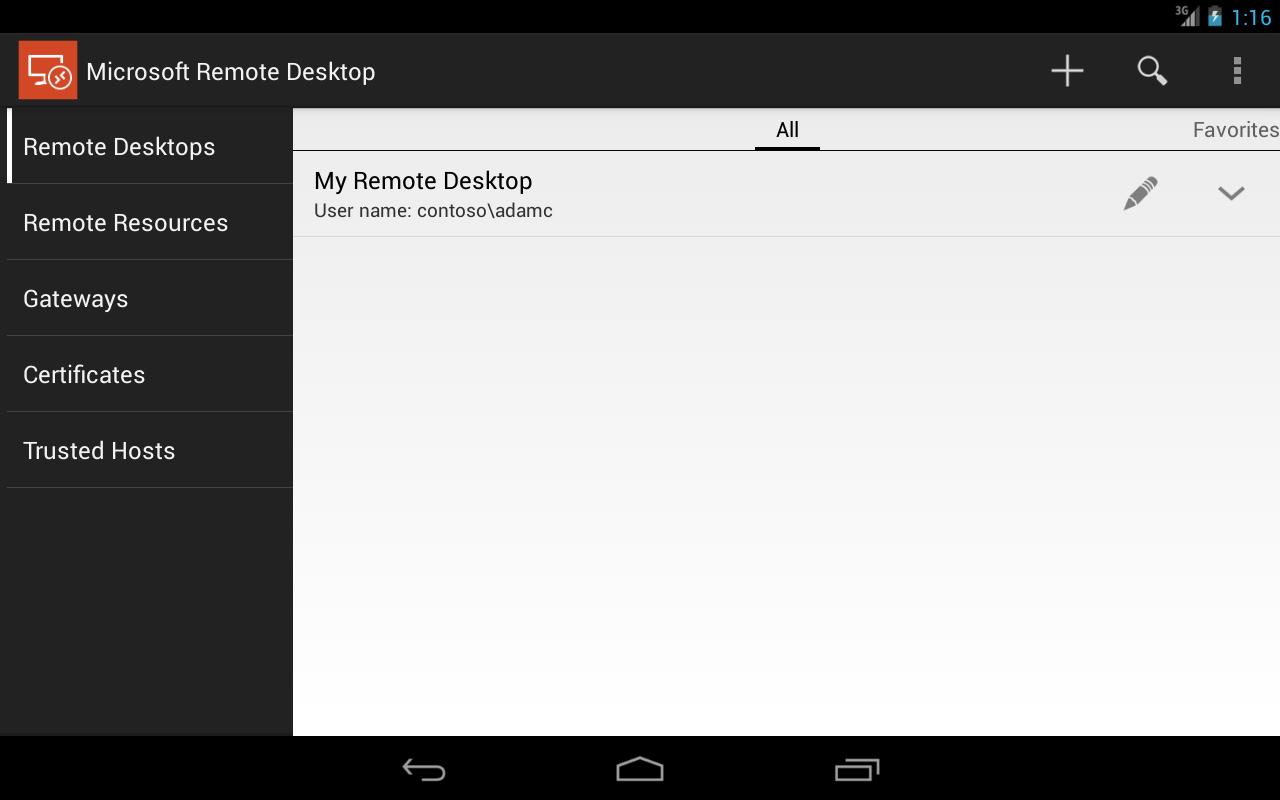 Microsoft Remote Desktop 8.0.5.24406 Screen 7