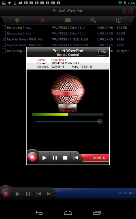 WavePad Master's Edition 6.52 Screen 2