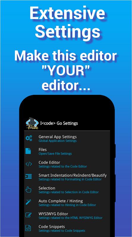 I<code> Go - Code Editor / IDE / Online Compiler 2.05 Screen 7