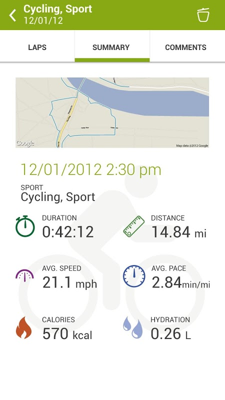 Android Endomondo Sports Tracker PRO Screen 2