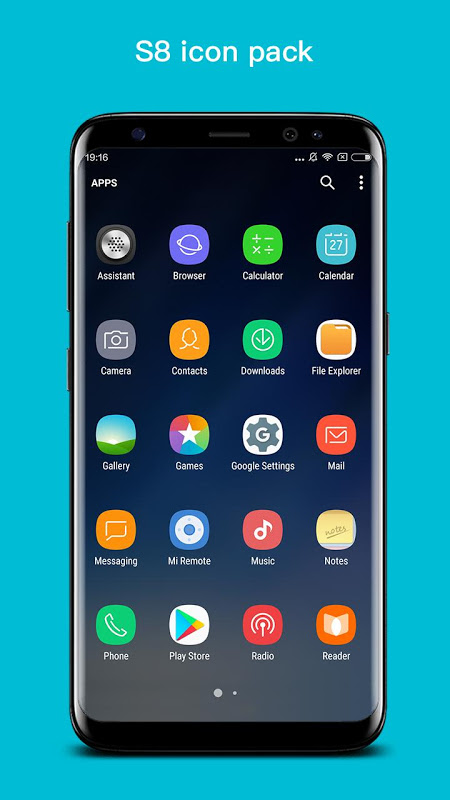 Android S+ S8 Launcher - Galaxy S8 Launcher, Theme Screen 1