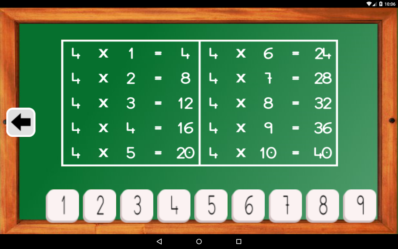 Android Maths Trainer Screen 21