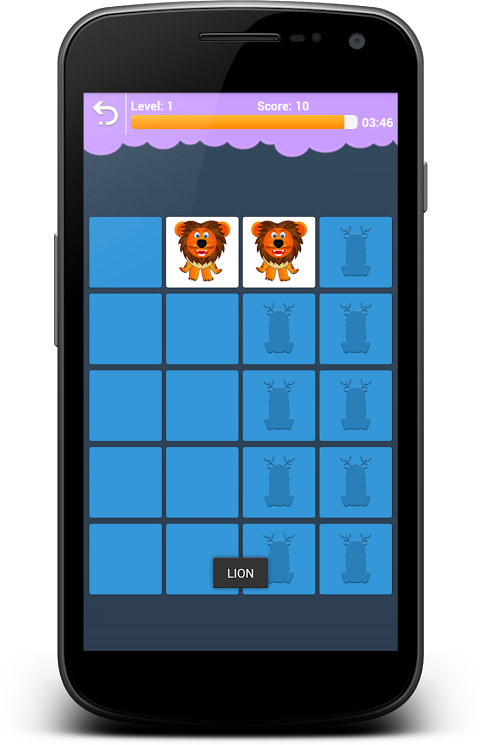 Android Animals Memory - Learn Animals Screen 4