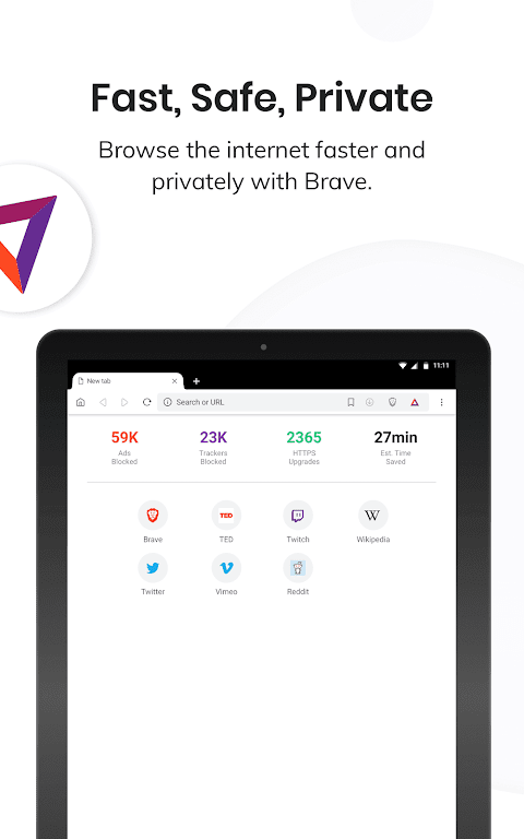 Brave Privacy Browser: Fast, safe, private browser 1.4.3 Screen 2