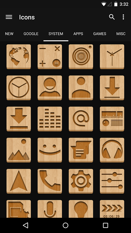 Android Wood - Icon Pack Screen 4