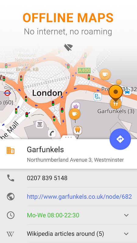 Android Maps & GPS Navigation OsmAnd+ Screen 1