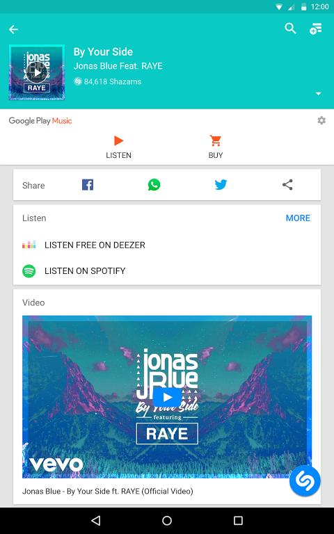 Android Shazam Screen 8