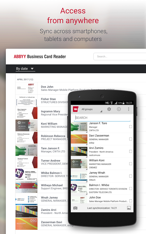 Business Card Reader Pro - Business Card Scanner 4.7.621 Screen 14