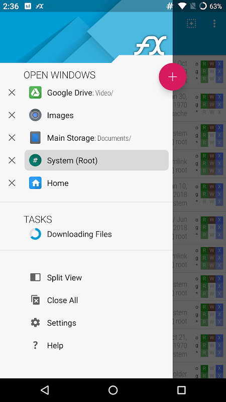 Android FX File Explorer: The file manager with privacy Screen 7