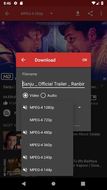 Android Videoder Video Downloader Screen 3