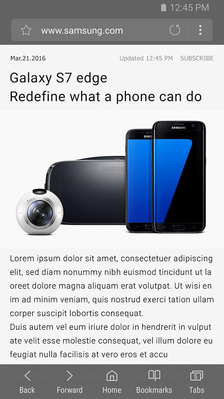 Samsung Internet Beta 5.4.00-40 Screen 1