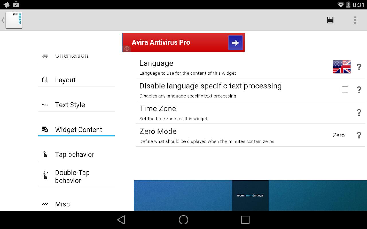 Minimalistic Text: Widgets 4.8.10 - M+ Screen 11