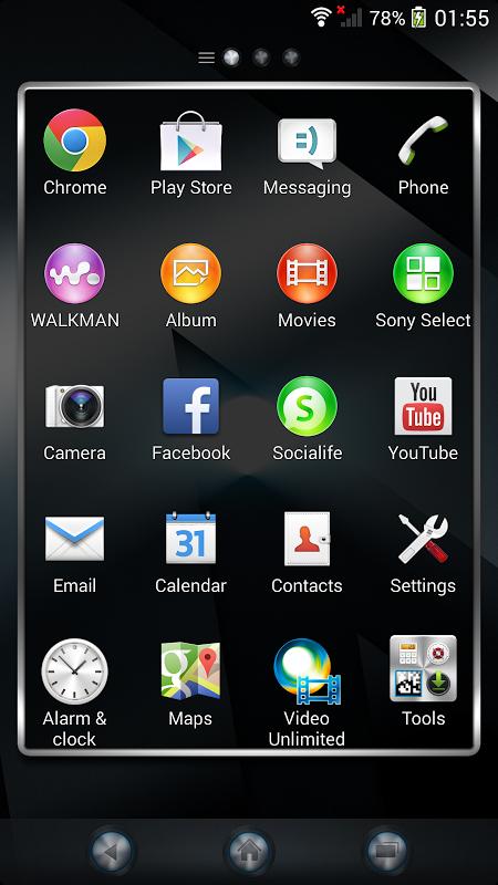 Android Xperia™ theme - Reality Screen 6
