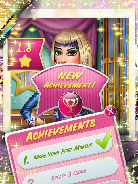 Android Makeup Game: Tris VIP Makeover Screen 6