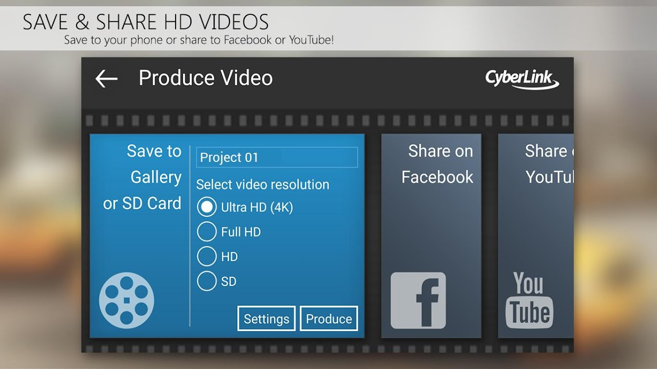 PowerDirector Video Editor App: 4K, Slow Mo & More 5.0.1 Screen 5
