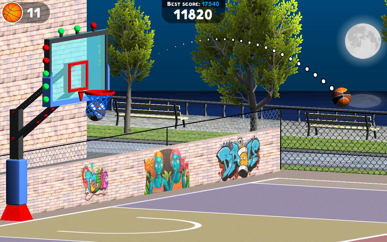 Android Basketball Sniper Shot Screen 1