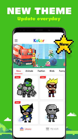 Android Kolor - Color by Number, Number Coloring Screen 7