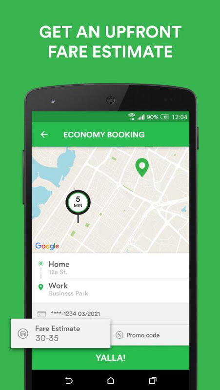 Android Careem - Car Booking App Screen 1