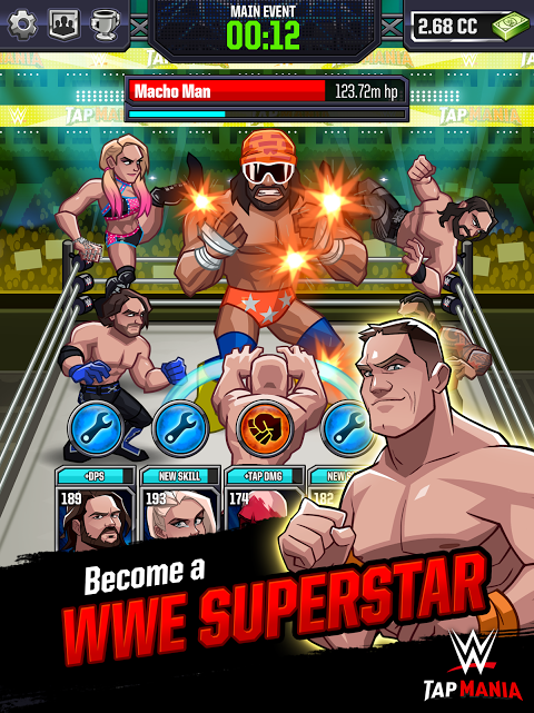 Android WWE Tap Mania Screen 6