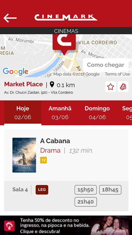 Android Cinemark Brazil Screen 2