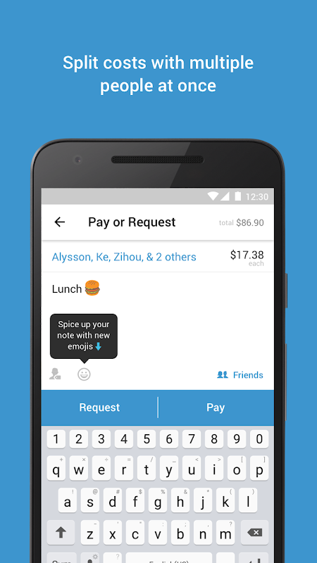 Android Venmo: Send & Receive Money Screen 1