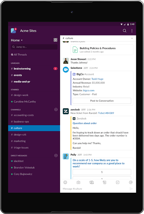 Android Slack Screen 6