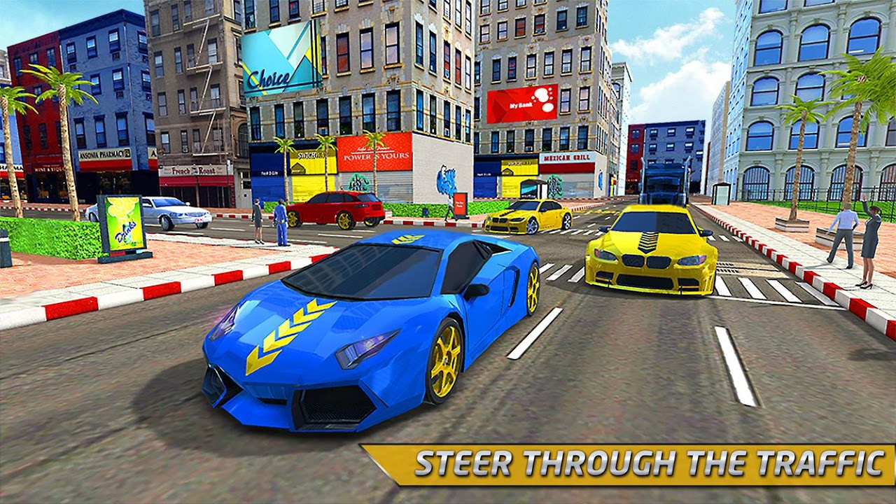 Android Taxi Driver 3D Simulator Game Screen 1