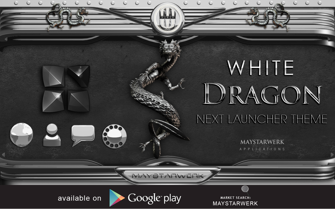 Android Dragon Clock Widget white Screen 10