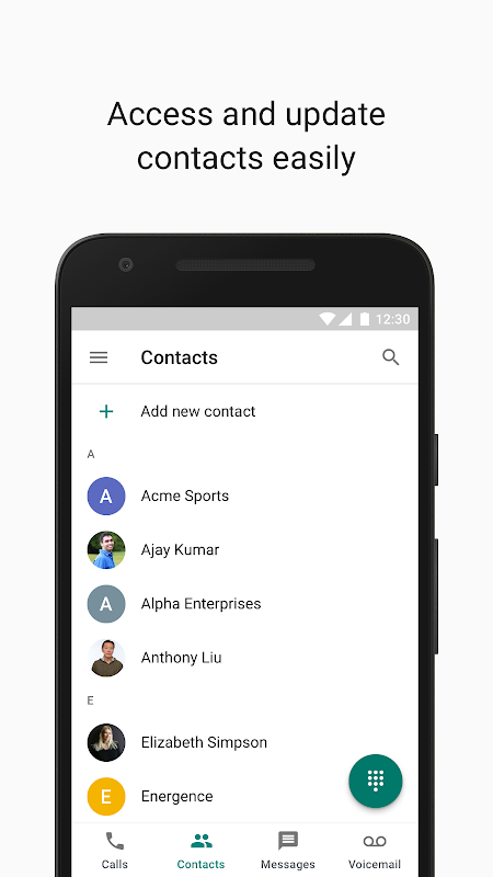 Google Voice 2018.50.224208644 Screen 1
