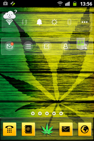Android Weed Reggae HD GO Launcher Screen 2