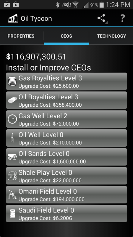 Android Idle Oil Tycoon Screen 11