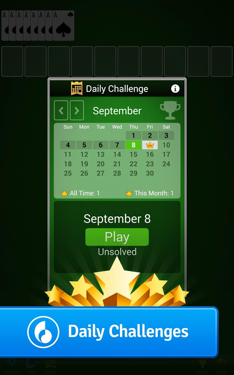 Android Spider Solitaire Screen 2