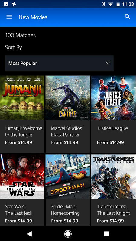 Android PlayStation™Video Screen 1
