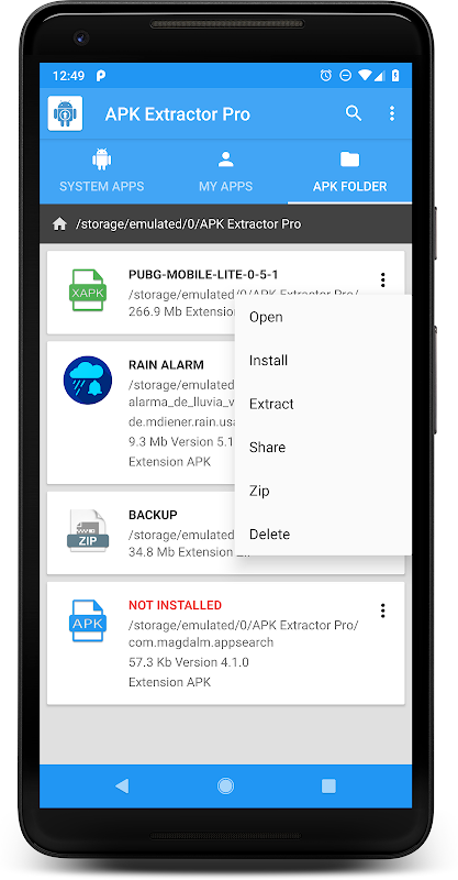 APK EXTRACTOR PRO 9.5.1 Screen 1