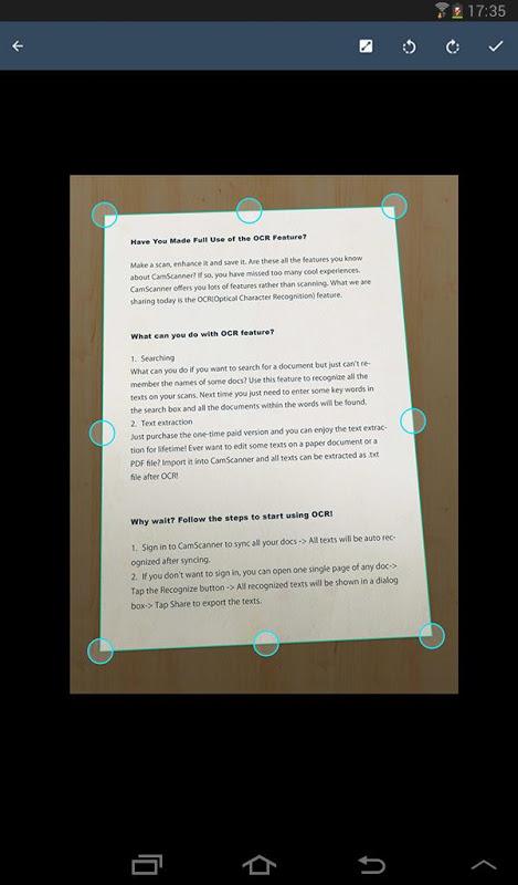 Android CamScanner -Phone PDF Creator Screen 14