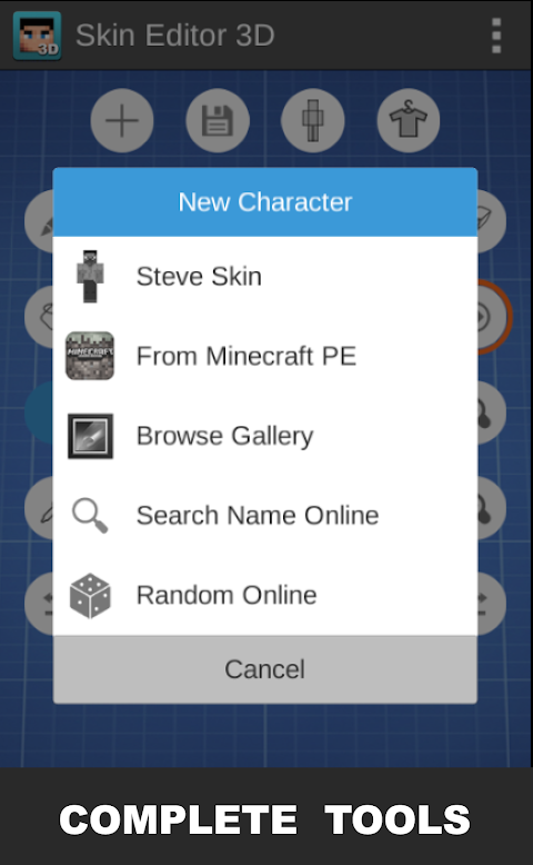 Skin Editor 3D for Minecraft 1.4 Screen 2