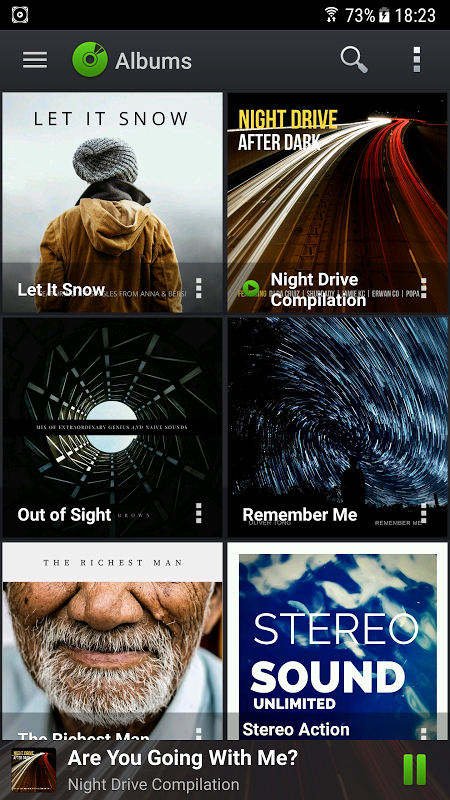 Android PlayerPro Music Player Screen 1