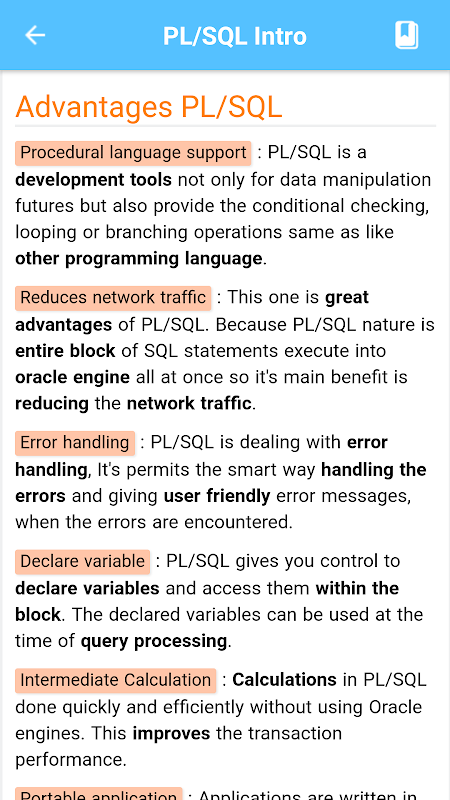Learn PL SQL -Offline Tutorial APKs   Android APK
