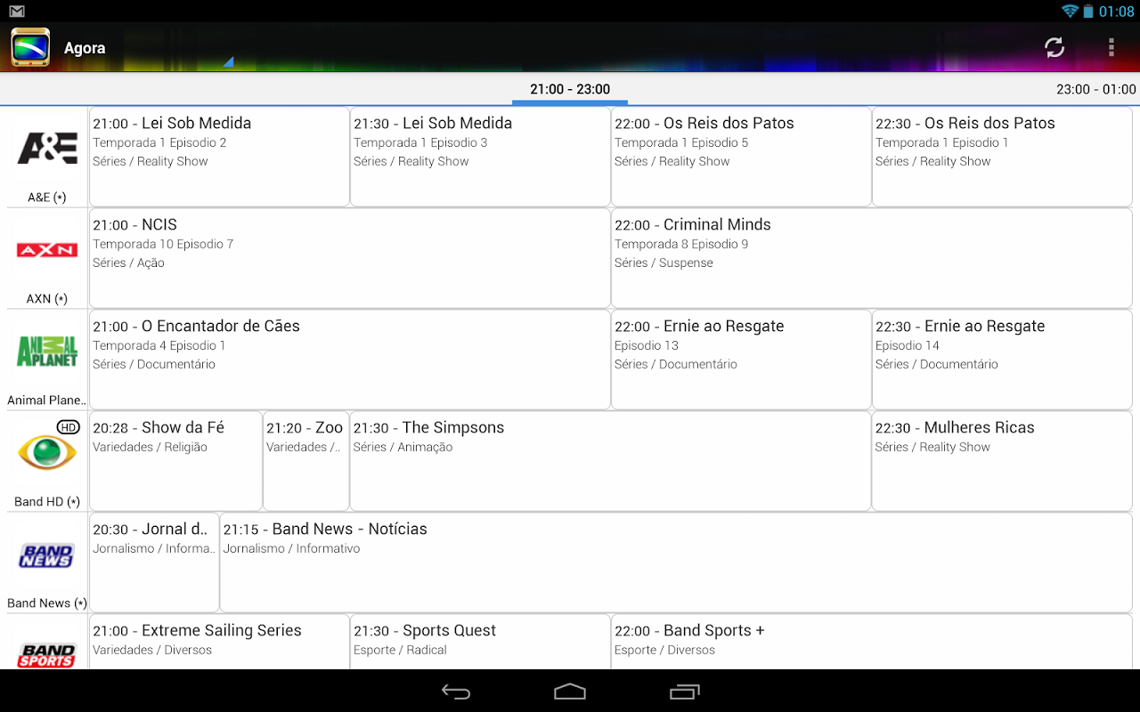 Android TV Guide BR Screen 2