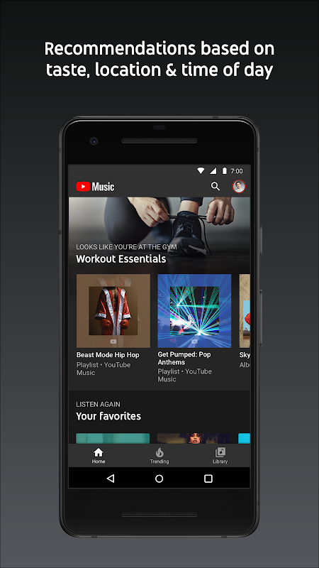 YouTube Music - stream music and play videos 3.05.54 Screen 1