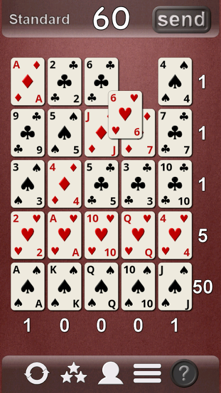 Android Poker Solitaire Screen 4