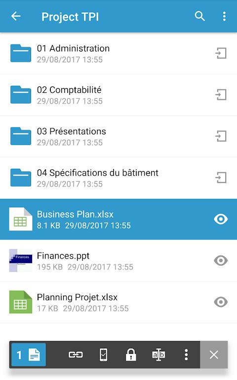 Oodrive Mobile 1.8 Screen 5